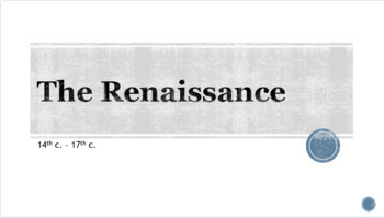 Renaissance Overview PowerPoint