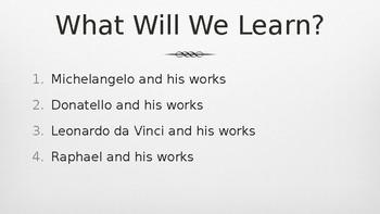 Renaissance Painters and Sculptors PowerPoint Lecture
