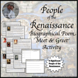 Renaissance People Meet and Greet Activity World History