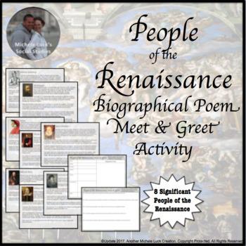 Renaissance People Meet and Greet Activity World History