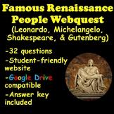 Renaissance People Webquest (Leonardo, Michelangelo, Shakespeare, and Gutenberg)