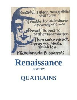 Renaissance Poetry - Quatrains FREE Bellwork Assignment