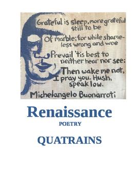 Renaissance Poetry ~ Quatrains ('Student Assignment)