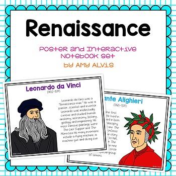 Renaissance Poster and Interactive Notebook INB Set