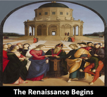 Renaissance Power Point Presentation, Printable Student Notes, and Worksheet