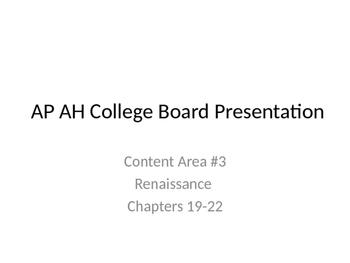 AP Art History Content Area #3, Part 2- Renaissance