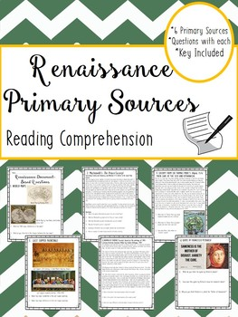 Renaissance Primary Sources Worksheet, DBQ