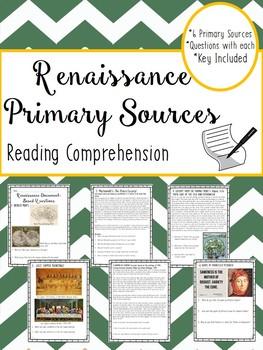 Renaissance Primary Sources, European History, World Histo