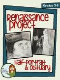 Renaissance Project!  Important People of the Renaissance Portrait and Obituary