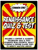Renaissance Quiz & Test Common Core Writing & Literacy