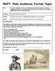 Renaissance RAFT's - Writing Activities