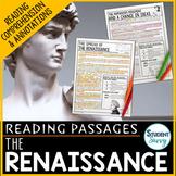 Renaissance Reading Passages - Questions - Annotations