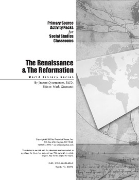 Renaissance & Reformation Activity Pack for Social Studies
