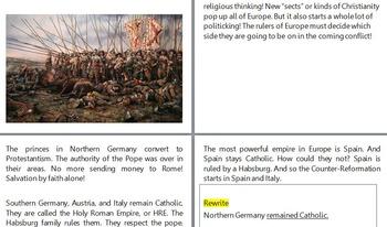 Renaissance / Reformation Bundle (Readings/Activities/Tests )