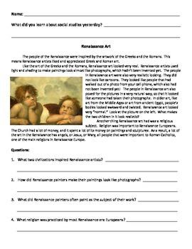 Renaissance & Reformation Easy Summaries