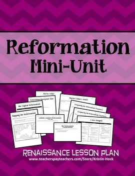 Renaissance - Reformation Mini-Unit