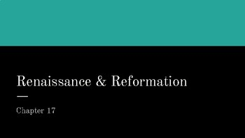 Renaissance & Reformation Power Point Presentation