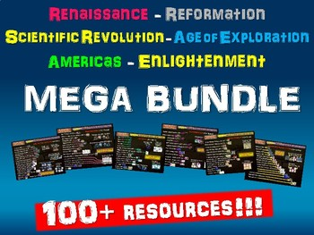 Renaissance Reformation Sci-Rev Exploration Americas Enlightenment MEGA BUNDLE