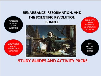Renaissance, Reformation, Science Bundle: Study Guides and Activity Packs