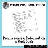 Renaissance & Reformation Study Guide