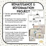 Renaissance & Reformation Summative Project: Digital OR Print