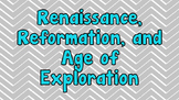 Renaissance, Reformation, and Age of Exploration Stations