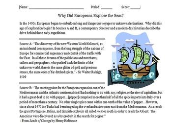 Renaissance, Reformation, and Exploration Unit Notes, Activities, & Test Bundle