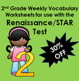 Renaissance/STAR Inspired 2nd Grade Vocabulary Worksheets