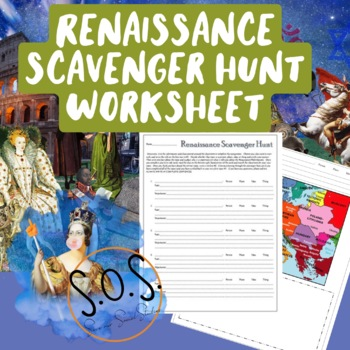 Renaissance Scavenger Hunt Worksheet