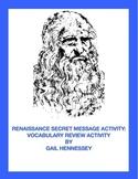 Renaissance: Secret Message Review Activity(Puzzler)
