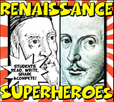 Renaissance Super Heroes Close Reading,Trading Card & Clas