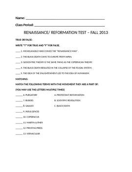 Renaissance Test