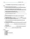 Renaissance Theatre Notes and Stock Characters Activity