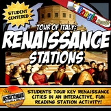 Renaissance Tour of Italy Stations Activity with Graphic Organizer Worksheets
