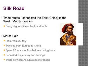 Renaissance, Trade with Asia, Silk Road PowerPoint
