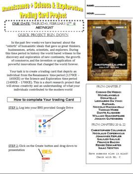 Renaissance Trading Card Project