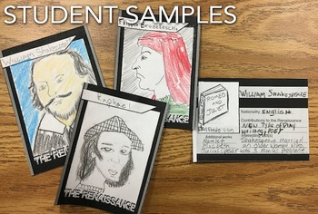 Renaissance Trading Card Project & Scavenger Hunt