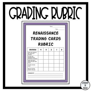 Renaissance Trading Cards- Creative Renaissance Analysis!
