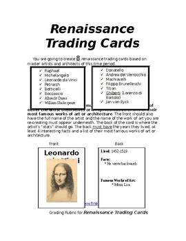 Renaissance Trading Cards