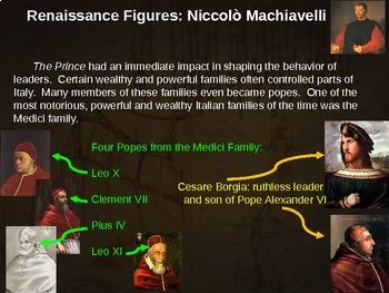 Renaissance Unit (121-slide PPT) combination of 7 PPTs (with graphic organizer)