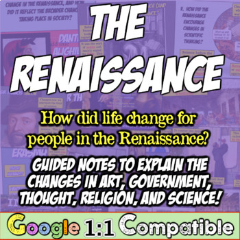 Renaissance Unit Guided Notes! 80+ Page PowerPoint & Notes