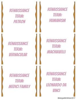 Renaissance Vocabulary Speed Dating