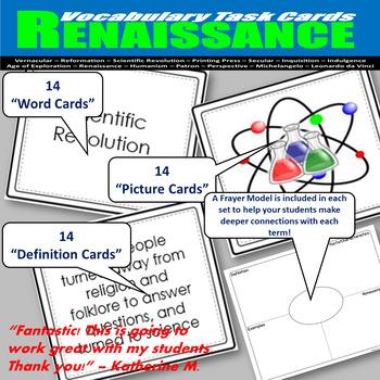 Renaissance Vocabulary Task Cards