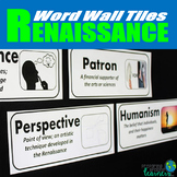 Renaissance Vocabulary Word Wall Tiles