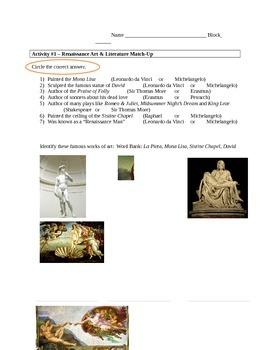 Renaissance Worksheets