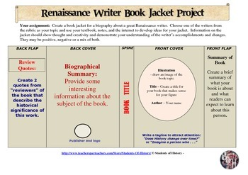 Renaissance Writers Bookjacket Project
