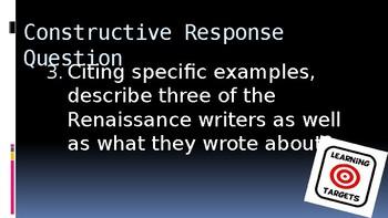 Renaissance Writers PowerPoint Lecture