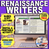 Renaissance Writers and Printing Press Simulation Activity Bundle