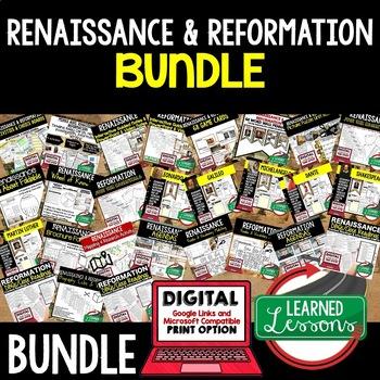 Renaissance and Reformation BUNDLE (World History Bundle)