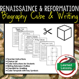 Renaissance and Reformation Activity Biography Cubes (Worl